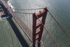 Golden Gate bridge near San Francisco Aerial Kuvituskuvat