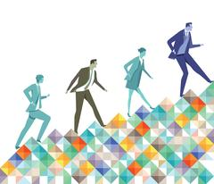 Successfully ascending, career advancement Stock Illustration