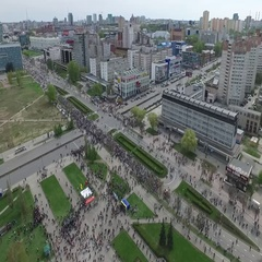 Immortal regiment. Perm on May 9 Russia Stock Footage