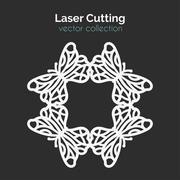 Laser Cutting Template. Round Card. Die Cut Mangala Piirros
