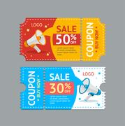 Coupon Sale. Vector Stock Illustration