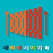 Flat design: xylophone Piirros