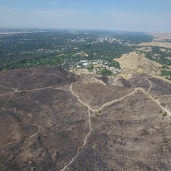 Scorched mountain Aerial Stock Footage