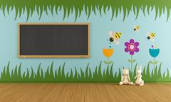 Playroom with colorful decorations Stock Illustration