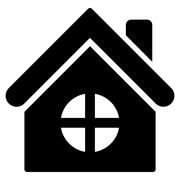 House Building Flat Vector Icon Piirros