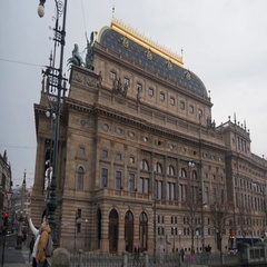 National Theatre In Prague Stock Footage