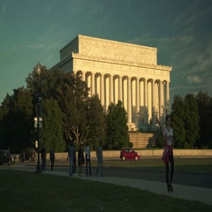 Lincoln Monument in DC Stock Footage