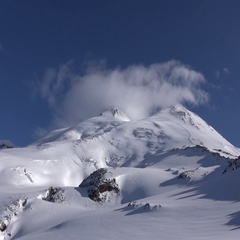 Mount Elbrus in all its splendor. Motivation. Success. Stock Footage