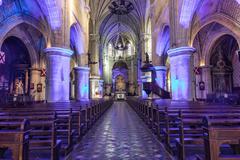 Church Notre Dame du bon port - Les Sables d'Olonne Stock Photos