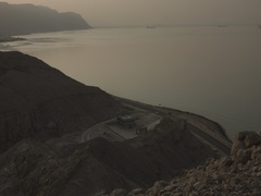 Landscape of the Red Sea and Suez Canal Stock Footage