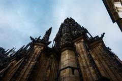 PRAGUE, CZECH REPUBLIC 2014 november 26: The Metropolitan Cathedral of Saints Stock Photos