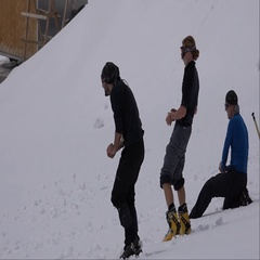 Climbers have fun in the base camp on Mount Elbrus. Success. Motivation. Stock Footage