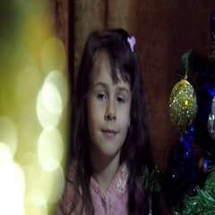 New Year's Eve, the child decorate the Christmas tree, Stock Footage