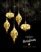 Christmas and New Year gold ornament decoration Stock Illustration