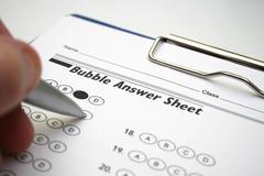 Answer sheet Stock Photos