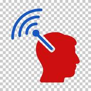 Radio Neural Interface Vector Icon Stock Illustration