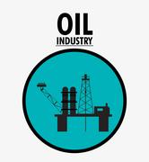 Oil price and industry design Stock Illustration