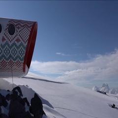 Panorama Mountain Elbrus. Motivation. Stock Footage