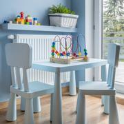 Blue toddler's room Stock Photos