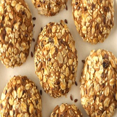 Delicious yummy freshly baked homemade oatmeal cookies rotating on a white Stock Footage
