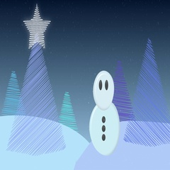 Cold winter christmas snow scape animation background Stock Footage