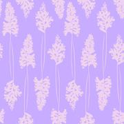 Purple floral seamless pattern. cozy and gentle Stock Illustration