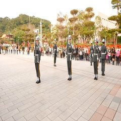 guard change ceremony Taipei Martyr's Shrine Stock Footage