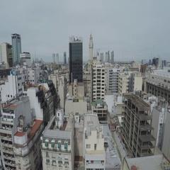 Legislatura de la Ciudad Autnoma de Buenos Aires aerial view Stock Footage