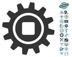 Cog Icon With Copter Tools Bonus Stock Illustration
