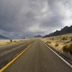 Driving on Highway 50 in Eastern Nevada Stock Footage