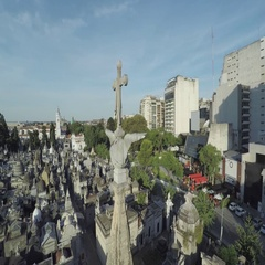 Tombs in La Recoleta cemetery Stock Footage