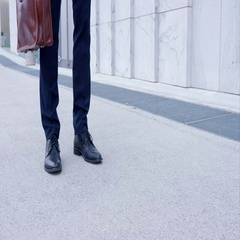 Business Man Walking To Work With Self Confidence Stock Footage