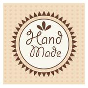 Hand Made label, handmade crafts workshop Stock Illustration