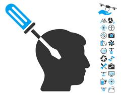 Intellect Screwdriver Tuning Icon With Copter Tools Bonus Stock Illustration