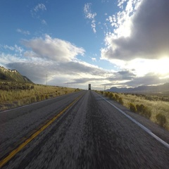 Driving Time Lapse on US Highway 6 in Eastern Nevada Stock Footage