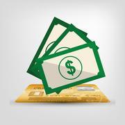 Money saving and investment Stock Illustration