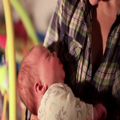 Mother with baby on hands Stock Footage