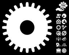 Cogwheel Vector Icon With Tools Bonus Stock Illustration