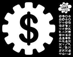 Development Cost Vector Icon With Tools Bonus Stock Illustration