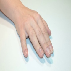 Female hand with manicure Stock Footage