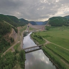 Aerial shot of a Hydropower Plant Stock Footage