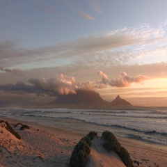 View to Cape Town (from Bloubergstrand) as 4K UHD footage Stock Footage