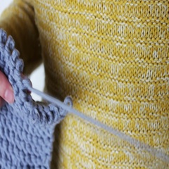 Woman's hands knitting needles Stock Footage