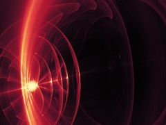 Red And Yellow Circles Curves Lines Particles Pulsing Outwards Slowly Stock Footage
