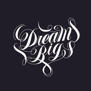 attractive Dream big calligraphy  Stock Illustration