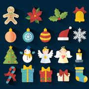 adorable Christmas elements collection Stock Illustration