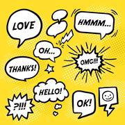 simplicity comic speech bubbles  Stock Illustration