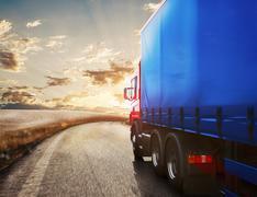 Truck transport. 3D Rendering Piirros
