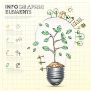 creative infographics template Stock Illustration