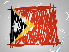 East Timor  - Hand drawn - Animation - outline - White Background - SD Stock Footage